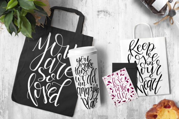 9 Hand Lettering Quotes About Love Graphic By tregubova.jul Image 7