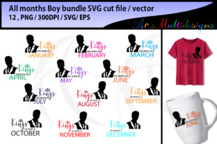 Download Free Aall Months Boys Svg Vectors Graphic By Arcs Multidesigns for Cricut Explore, Silhouette and other cutting machines.