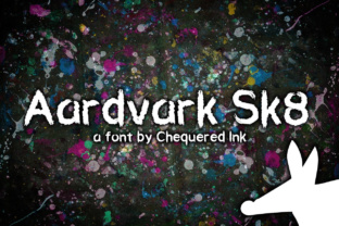 Aardvark Sk8 Display Font By Chequered Ink