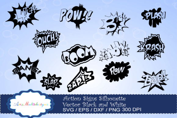 Print on Demand: Action Signs SVG Graphic Illustrations By Arcs Multidesigns