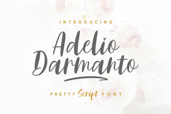 Print on Demand: Adelio Darmanto Script & Handwritten Font By Keithzo (7NTypes)
