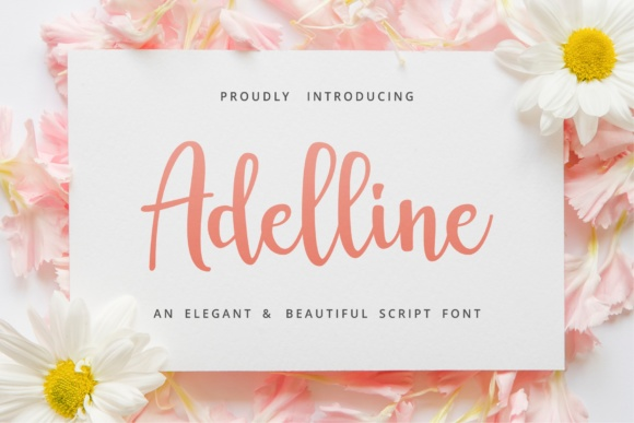 Print on Demand: Adelline Script & Handwritten Font By great19