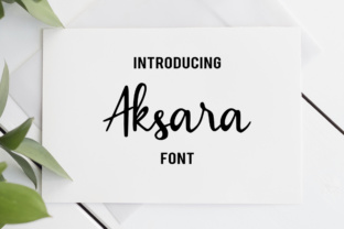 Print on Demand: Aksara Script & Handwritten Font By LebahStudio