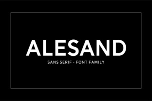Alesand Font By Solidtype