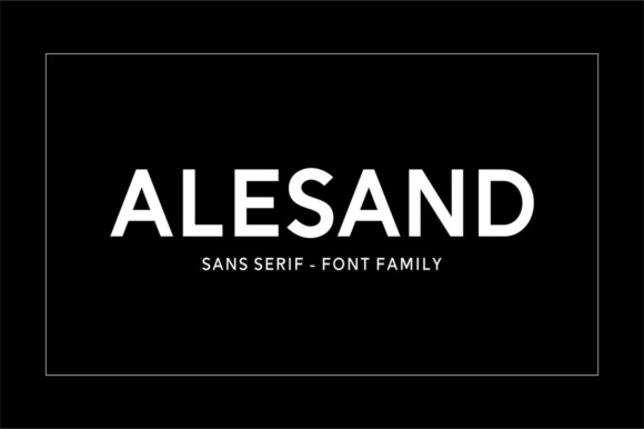 Print on Demand: Alesand Sans Serif Font By Solidtype