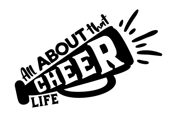 Download Free All About That Cheer Life Svg Cut File By Creative Fabrica for Cricut Explore, Silhouette and other cutting machines.