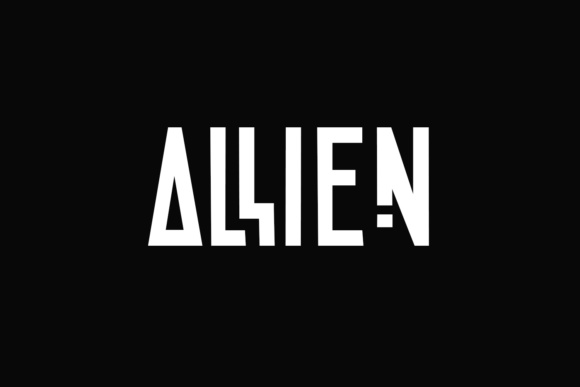 Print on Demand: Allien Display Font By fcvkreativ std