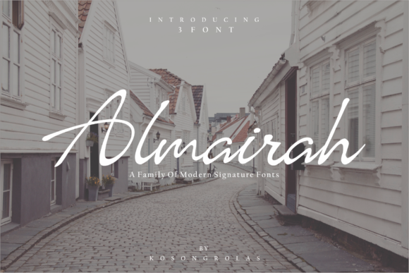 Print on Demand: Almairah Script & Handwritten Font By mrkhoir012
