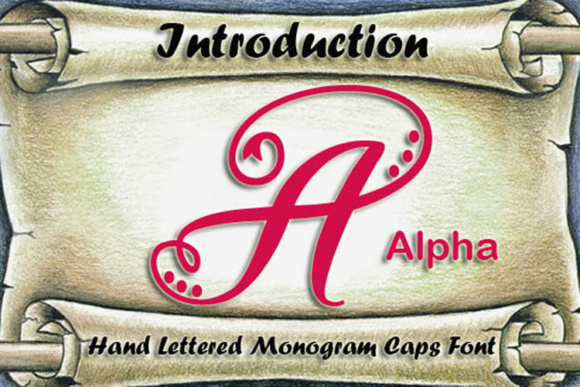 Print on Demand: Alpha Monogram Script & Handwritten Font By Amanda_Design
