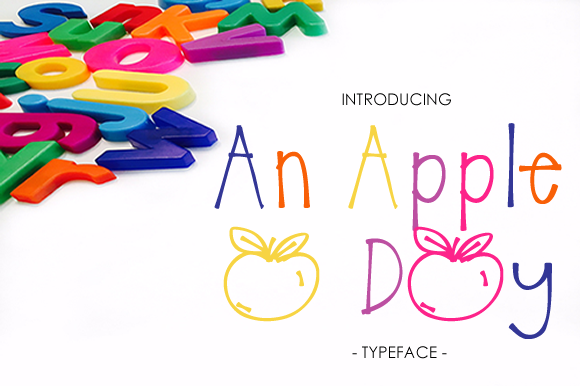 Print on Demand: An Apple a Day Decorative Font By yh.seaofknowledge - Image 1