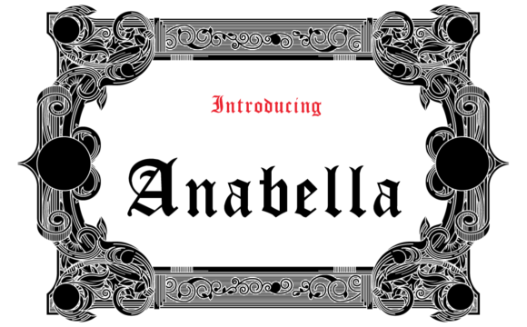 Print on Demand: Anabella Blackletter Font By hamelinckmichael