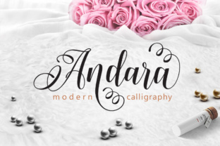Print on Demand: Andara Script & Handwritten Font By joelmaker