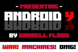 Print on Demand: Android Y Display Font By Dadiomouse