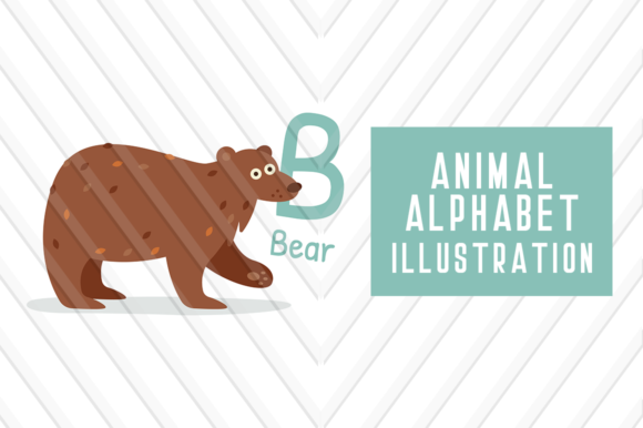 Animal Alphabet B for Bear Graphic Illustrations By backthemc