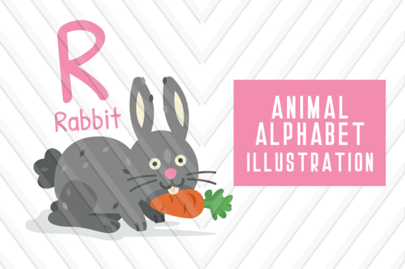 Download Free Animal Alphabet R For Rabbit Graphic By Backthemc Creative Fabrica SVG Cut Files