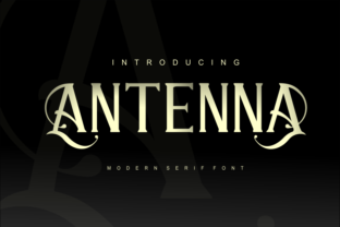 Antenna Font By mrkhoir012