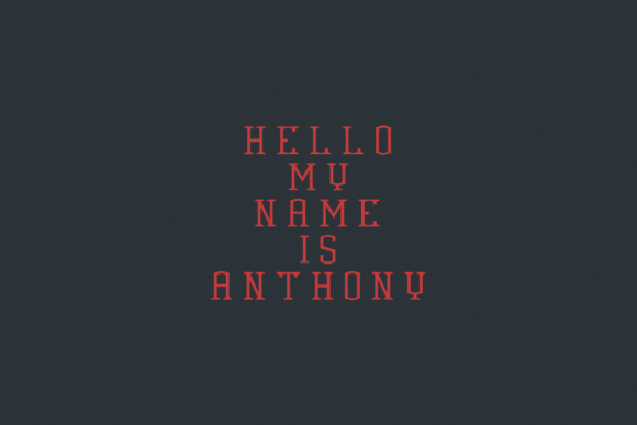 Print on Demand: Anthony Serif Font By Agentur BM - Image 2