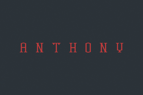 Print on Demand: Anthony Serif Font By Agentur BM - Image 1