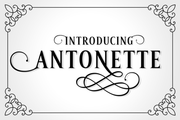 Print on Demand: Antonette Serif Font By Silhouette America, Inc.