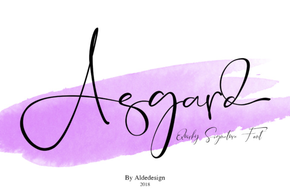 Print on Demand: Asgard Script & Handwritten Font By aldedesign - Image 2