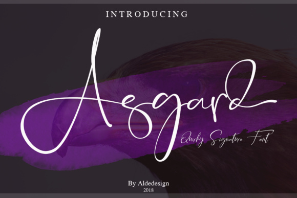 Print on Demand: Asgard Script & Handwritten Font By aldedesign - Image 1