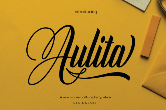 Print on Demand: Aulita Script & Handwritten Font By desinglabs91