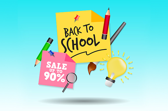 Back to School, Poster, or Banner Design. Graphic Illustrations By indostudio