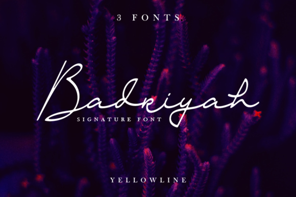 Print on Demand: Badriyah Script & Handwritten Font By yellowline - Image 1