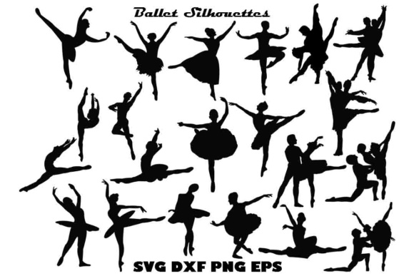 Ballet Silhouette SVG Files Graphic By twelvepapers