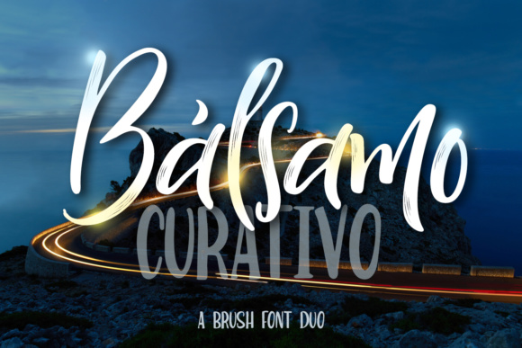 Print on Demand: Bálsamo Curativo Duo Script & Handwritten Font By tregubova.jul