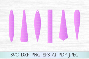 Download Free Bar Drop Earrings Svg Graphic By Magicartlab Creative Fabrica for Cricut Explore, Silhouette and other cutting machines.