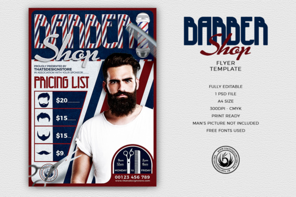 Barber Shop Flyer Template Graphic By Thatsdesignstore Creative