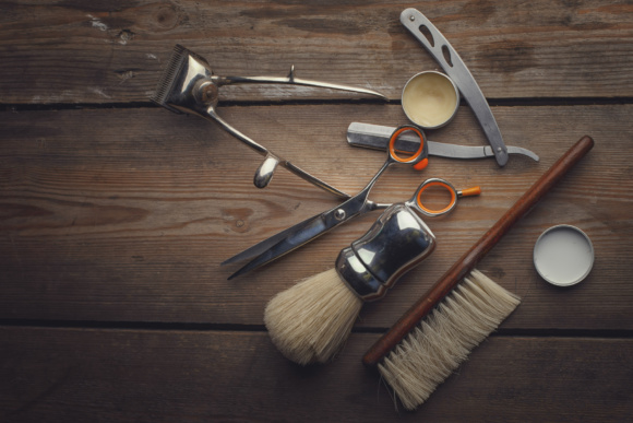 Download Free Barber Shop Wooden Backgrounds Graphic By Mystocks Creative for Cricut Explore, Silhouette and other cutting machines.