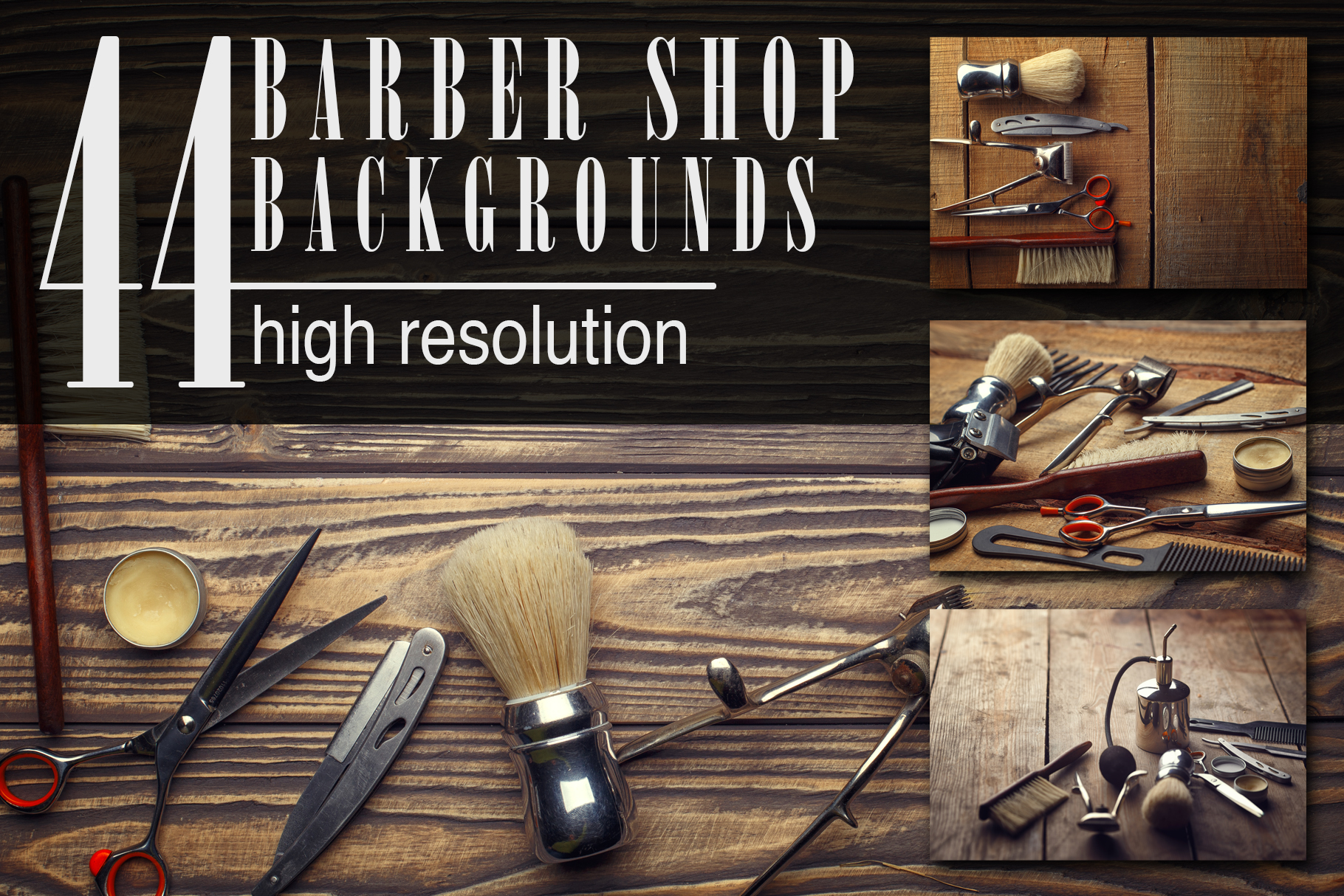 Barber Shop Wooden Backgrounds Jpg Set Graphic By Mystocks