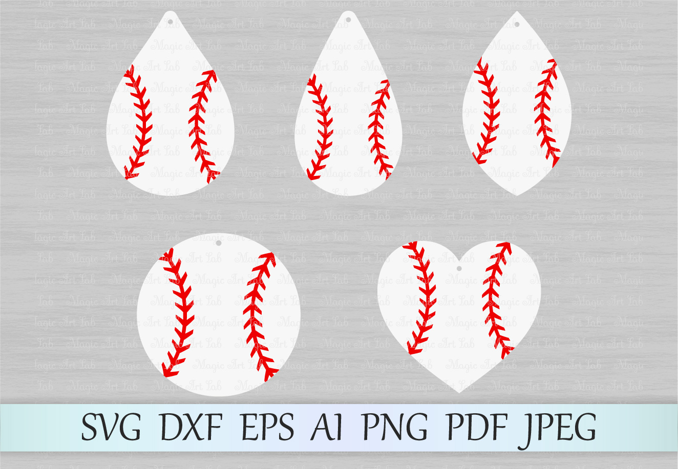 Download Free Baseball Earrings Graphic By Magicartlab Creative Fabrica for Cricut Explore, Silhouette and other cutting machines.