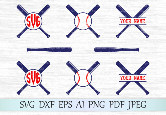 Download Free Baseball Monograms Graphic By Magicartlab Creative Fabrica for Cricut Explore, Silhouette and other cutting machines.