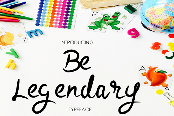 Print on Demand: Be Legendary Script & Handwritten Font By yh.seaofknowledge