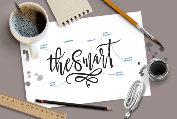 Print on Demand: Be Smart Script Script & Handwritten Font By joelmaker - Image 6