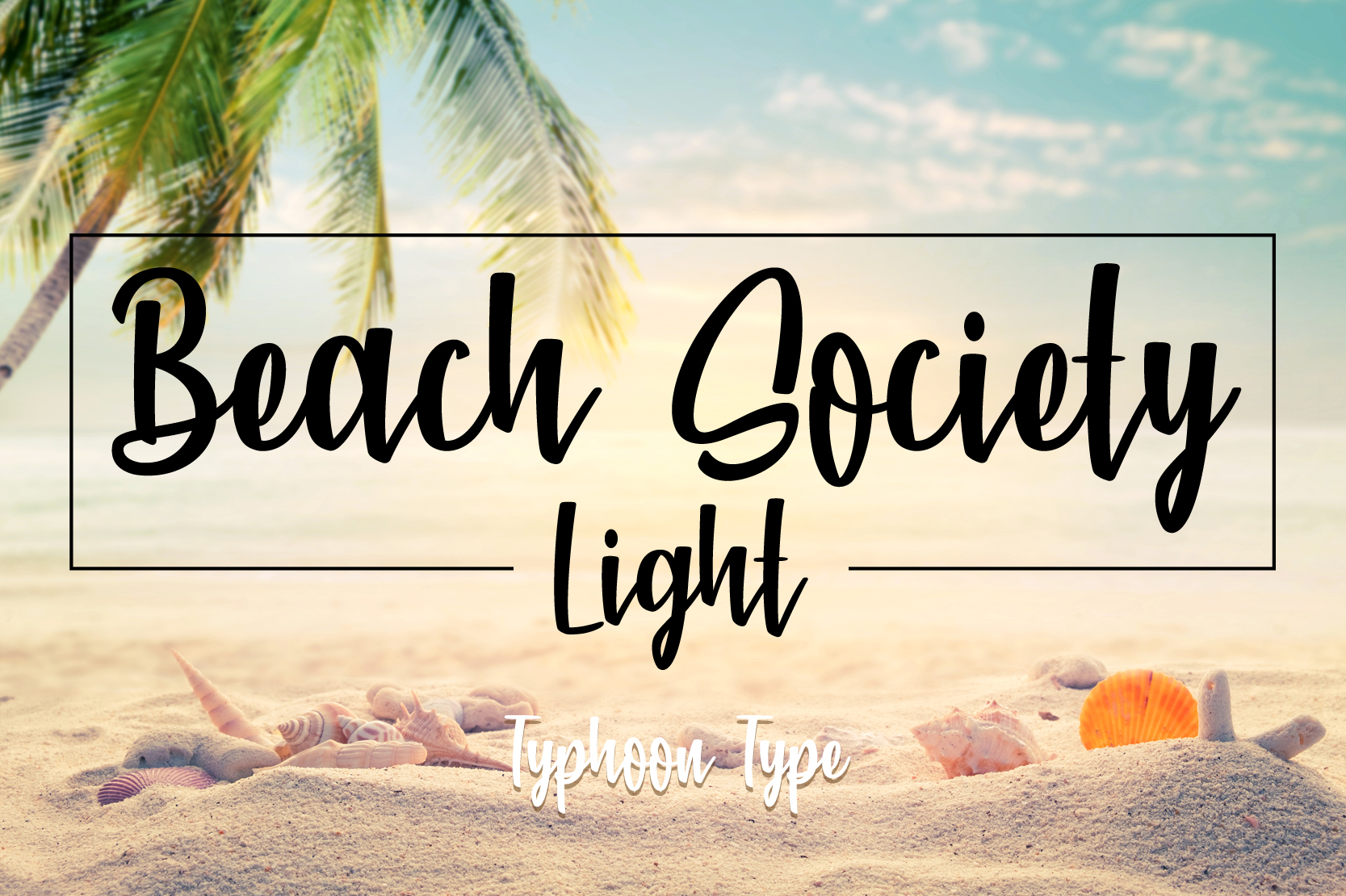 Download Free Beach Society Light Font By Typhoon Type Suthi Srisopha SVG Cut Files