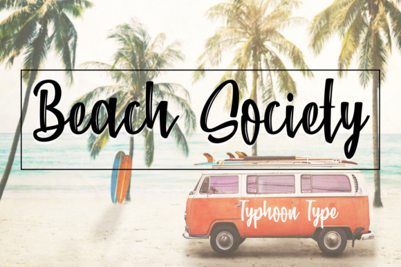 Download Free Beach Society Font By Typhoon Type Suthi Srisopha Creative for Cricut Explore, Silhouette and other cutting machines.