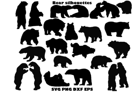 Bear Silhouette SVG PNG DXF EPS Graphic By twelvepapers