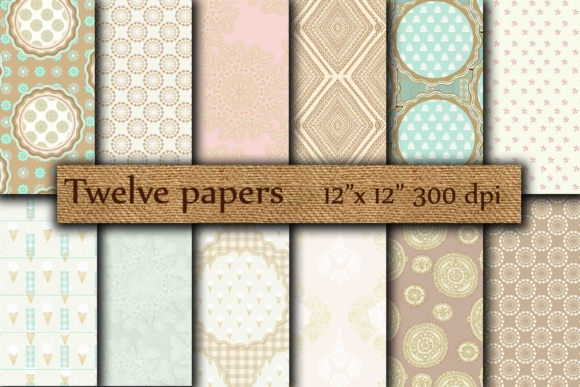 Beige Green Papers Graphic By twelvepapers