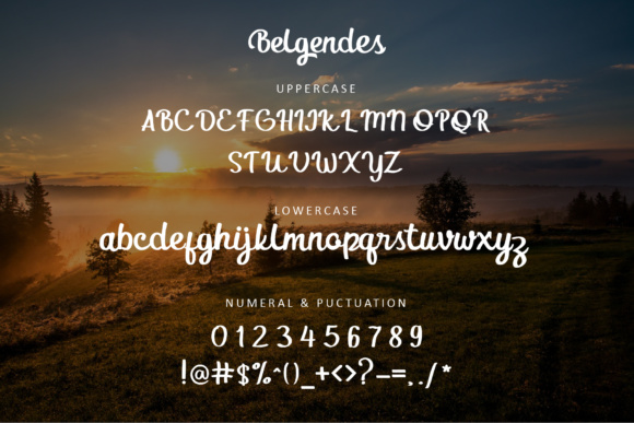 Print on Demand: Belgendes Script & Handwritten Font By rudhisasmito - Image 2