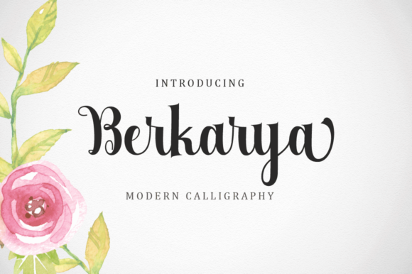 Print on Demand: Berkarya Script & Handwritten Font By Ageless Type