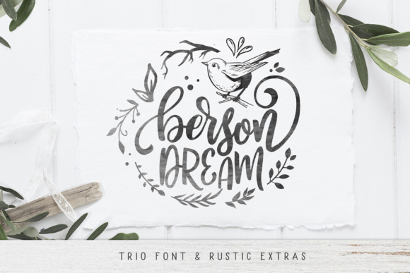 Print on Demand: Berson Dream Script & Handwritten Font By BlackCatsMedia