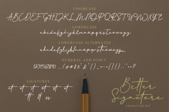Print on Demand: Better Signature Script & Handwritten Font By YdhraStudio - Image 7