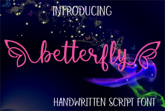 Print on Demand: Betterfly Script & Handwritten Font By Jaime Rangel Castro