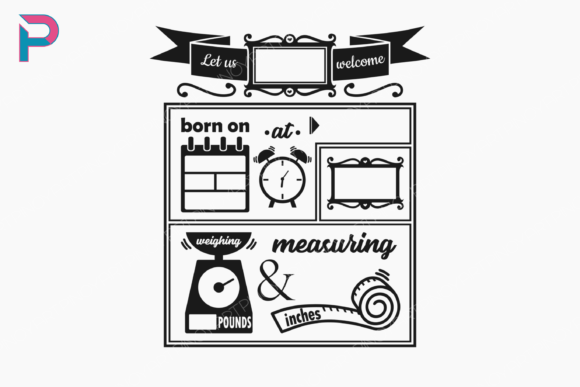 Download Free Birth Stats Template Graphic By Pinoyartkreatib Creative Fabrica for Cricut Explore, Silhouette and other cutting machines.