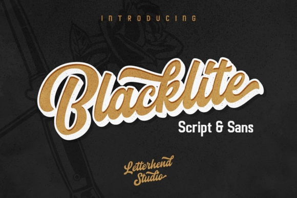 Print on Demand: Blacklite Script Script & Handwritten Font By letterhend