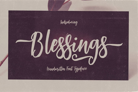 Download Free Blessings Font By Jumbodesign Creative Fabrica for Cricut Explore, Silhouette and other cutting machines.